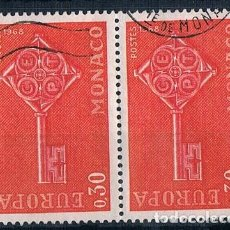 Sellos: MONACO 1968 YVES 749 USADO DOBLE MUY BONITO. Lote 288578353