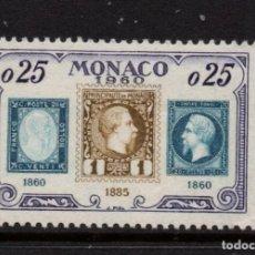 Sellos: MONACO 525** - AÑO 1960 - 75º ANIVERSARIO DEL SELLO DE MONACO. Lote 289334253
