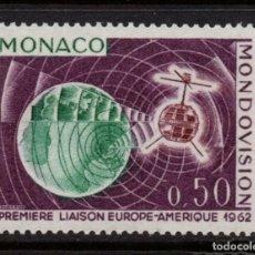 Sellos: MONACO 612** - AÑO 1963 - PRIMERA TRANSMISION DE TELEVISION POR SATELITE. Lote 289336043