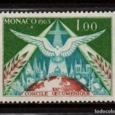 Sellos: MONACO 610** - AÑO 1963 - CONCILIO ECUMENICO VATICANO II. Lote 289336553