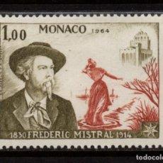 Sellos: MONACO 660** - AÑO 1964 - CENTENARIO DE LA MUERTE DEL POETA FREDERIC MISTRAL. Lote 289338093