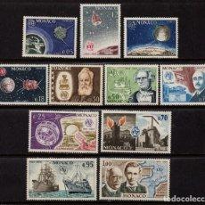 Sellos: MONACO 664/74** - AÑO 1964 - CENTENARIO DE LA UNION INTERNACINAL DE TELECOMUNICACIONES. Lote 289338518