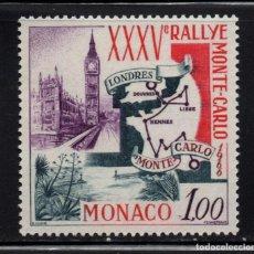 Sellos: MONACO 689** - AÑO 1966 - RALLY AUTOMOVILISTICO DE MONTECARLO. Lote 289338828