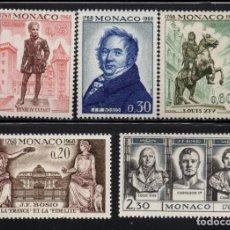 Sellos: MONACO 764/68** - AÑO 1968 - BICENTENARIO DEL NACIMIENTO DEL ESCULTOR J.F. BOSIO. Lote 289339943