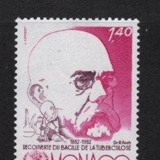 Sellos: MONACO 1333** - AÑO 1982 - CENT. DEL DESCUBRIMIENTO DEL VACILO DE LA TUBERCUSIS - ROBERT KOCH. Lote 289887368