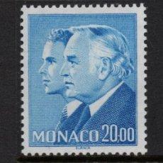 Sellos: MONACO 1614** - AÑO 1986 - PRINCIPE RAINIERO Y PRINCIPE ALBERTO. Lote 289888133
