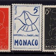 Sellos: MONACO 399/401** - AÑO 1954 - CENTENARIO DE LA MUERTE DE ANTOINE FREDERIC OZANAM. Lote 293442523