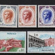 Sellos: MONACO 772/78** - AÑO 1969 - PRINCIPE RAINIERO III - PALACIO. Lote 293444438