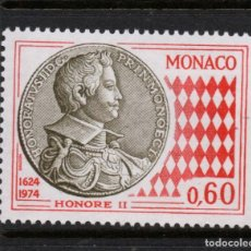 Sellos: MONACO 980** - AÑO 1974 - 350º ANIVERSARIO DE LA NUMISMATICA. Lote 293449458