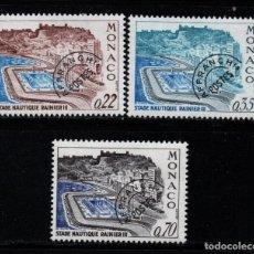 Sellos: MONACO PREOBLITERADO 27/29** - AÑO 1964 - PUERTO NAUTICO RAINIERO III. Lote 295337993