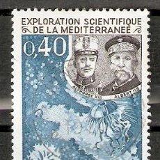 Sellos: MÓNACO. 1969. FAUNA. EXPLORACIÓN CIENTÍFICA DEL MEDITERRÁNEO.. Lote 295620918