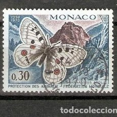 Sellos: MÓNACO. 1970. FAUNA. MARIPOSA. Lote 295622773