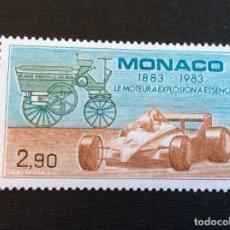 Sellos: MONACO Nº YVERT 1371** AÑO 1983. CENTENARIO DE AUTOMOVIL. SELLO CON CHARNELA. Lote 296736728