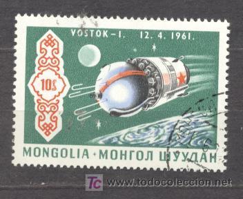 MONGOLIA, VOSTOK-I, 12-4-1961 (Sellos - Extranjero - Asia - Mongolia)