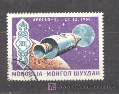 MONGOLIA, APOLLO 8 - 21-12-1968 (Sellos - Extranjero - Asia - Mongolia)