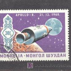 Sellos: MONGOLIA, APOLLO 8 - 21-12-1968. Lote 20747753