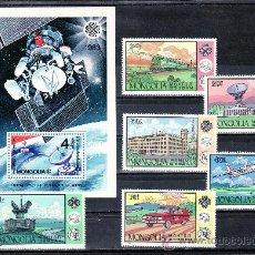 Sellos: MONGOLIA 1278/83, HB 96 SIN CHARNELA, U.I.T., AÑO MUNDIAL DE LAS COMUNICACIONES, MEDIOS,. Lote 24724048