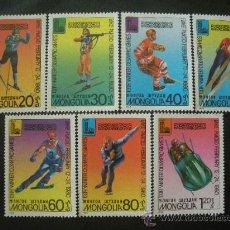 Briefmarken - Mongolia 1980 Ivert 1045/51 *** Juegos Olímpicos de Invierno de Lake Placid - Deportes - 27055663