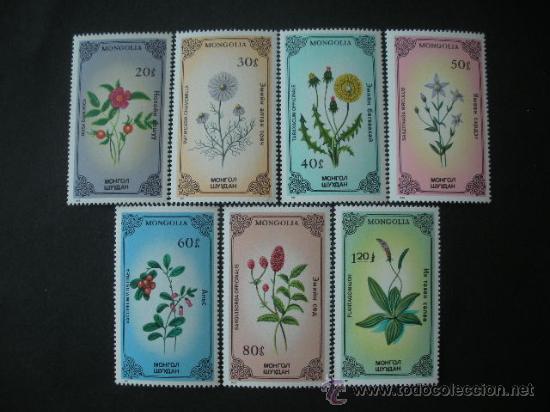 MONGOLIA 1985 IVERT 1367/73 *** FLORA - PLANTAS MEDICINALES (Sellos - Extranjero - Asia - Mongolia)