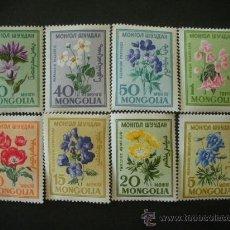 Sellos: MONGOLIA 1960 IVERT 163/70 *** FLORES DIVERSAS - FLORA. Lote 33391079