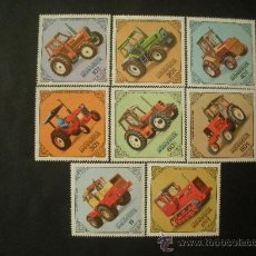 Sellos: MONGOLIA 1982 IVERT 1199/06 *** TRACTORES. Lote 33459155