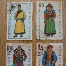 Sellos: 4 SELLOS MONGOLIA TRAJES. Lote 33896337