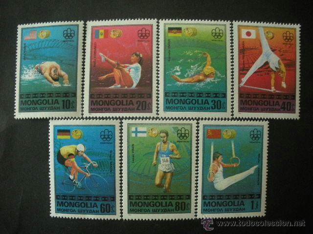 MONGOLIA 1976 IVERT 864/70 *** MEDALLAS DE LOS JUEGOS OLIMPICOS DE MONTREAL - DEPORTES (Sellos - Extranjero - Asia - Mongolia)