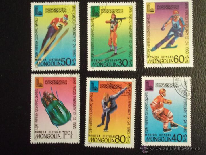 MONGOLIA. 1046/51 JJ. OO. DE LAKE PLACID**. 1980. SELLOS USADOS Y NUMERACIÓN YVERT. (Sellos - Extranjero - Asia - Mongolia)
