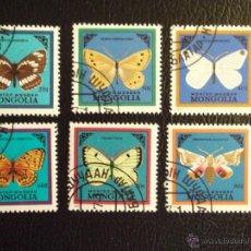 Sellos: MONGOLIA. 1428/33 MARIPOSAS. 1986. SELLOS USADOS Y NUMERACIÓN YVERT.. Lote 43657744