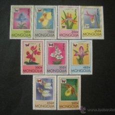 Sellos: MONGOLIA 1997 IVERT 2123/31 *** FLORA Y FAUNA - ORQUIDEAS Y MARIPOSAS. Lote 52831710