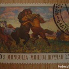 Sellos: SELLO ANTIGUO MONGOLIA 10 - TSEWEGDJAW - LUCHA ENTRE CABALLOS / CABALLO - SELLOS NATURALEZA / FAUNA. Lote 69179145