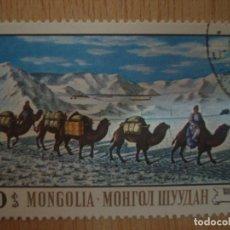 Sellos: SELLO ANTIGUO MONGOLIA 20 - DAMDINSUREN CARAVANA DE CAMELLOS CAMELLO SELLOS FAUNA ANIMALES NIEVE. Lote 69241997