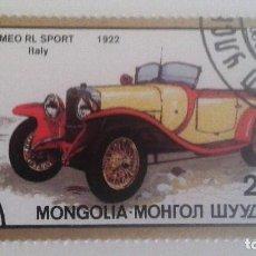 Sellos: MONGOLIA 1986 - AUTOMÓVILES ANTIGUOS. Lote 91807720