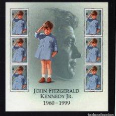 Sellos: MONGOLIA 2437K HB** - AÑO 1999 - EN RECUERDO DE JOHN FITZGERALD KENNEDY. Lote 95649587