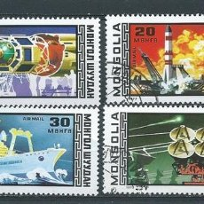 Timbres: MONGOLIA,1977,MICHEL 1082-1084,1086,CARRERA ESPACIAL,USADOS. Lote 98731930