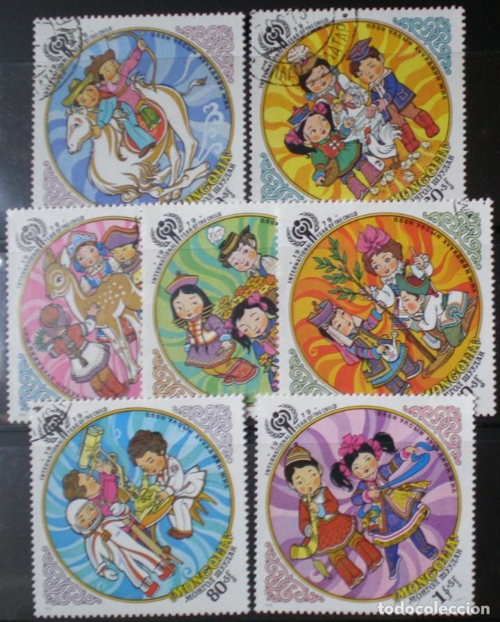 TEMATICOS - IVRT 991-97 USADOS -AÑO INT. DEL NIÑO - JUEGOS INFANTILES (Sellos - Extranjero - Asia - Mongolia)