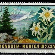 Sellos: MONGOLIA SCOTT:534-(1969) (FLORA:LEONTOPODIUM OCHROLEUCUM) (USADO). Lote 148078846
