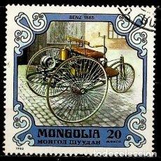 Sellos: MONGOLIA SCOTT:1129-(1980) (COCHE ANTOGUO: 1885 BENZ ) (USADO). Lote 148089270