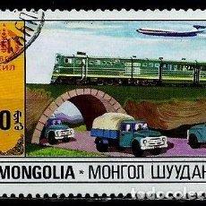 Sellos: MONGOLIA SCOTT:1178-(1981) (TRANSPORTES) (USADO). Lote 148091286