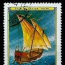Sellos: MONGOLIA SCOTT:1188-(1981) (VELERO VENECIANO DEL Sº XIV) (USADO). Lote 148091578