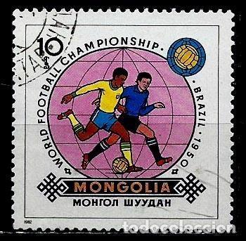 MONGOLIA SCOTT:1242-(1982) (MUNDIAL DE FUTBOL: BRASIL 1950) (USADO) (Sellos - Extranjero - Asia - Mongolia)