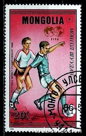 MONGOLIA SCOTT:1502-(1986) (MUNDIAL DE FUTBOL) (USADO) (Sellos - Extranjero - Asia - Mongolia)