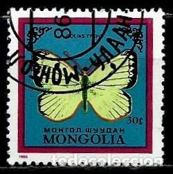 MONGOLIA SCOTT:1515-(1986) (MARIPOSA: (COLIAS TYCHE) (USADO) (Sellos - Extranjero - Asia - Mongolia)