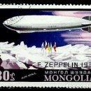 Sellos: MONGOLIA SCOTT:C-94-(1977)(AEREO) (ZEPELÍN SOBRE EL POLO NORTE, 1931) (USADO). Lote 148094690