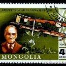 Sellos: MONGOLIA SCOTT:C-103-(1978)(AEREO) (GEOFFREY DE HAVILLAND Y D.H. 66 HÉRCULES (1920) (USADO). Lote 148094834