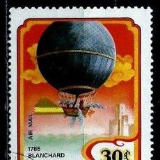 Sellos: MONGOLIA SCOTT:C-165-(1982)(AEREO) (GLOBO AEROSTATICOBLANCHARD) (USADO). Lote 148096666