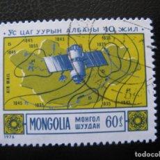 Sellos: MONGOLIA, 1976 METEOROLOGÍA, YVERT 74 AEREO. Lote 155364370