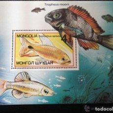 Sellos: MONGOLIA 1987 HB IVERT 117 *** FAUNA MARINA - PECES ORNAMENTALES. Lote 171667015