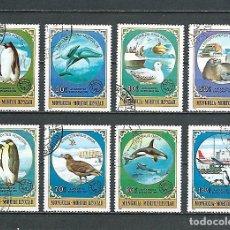 Sellos: MONGOLIA,1980,EXPLORACIÓN ANTÁRTICA,YVERT 1059-1066,USADOS. Lote 174528428