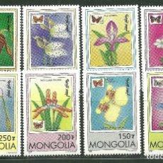 Sellos: MONGOLIA 1997 IVERT 2123/31 *** FLORA Y FAUNA - ORQUIDEAS Y MARIPOSAS. Lote 180947351